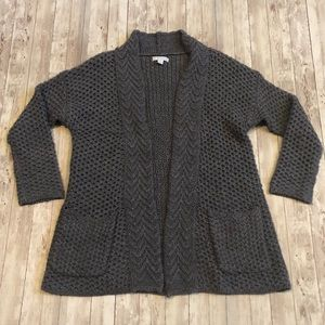 New York & Company chunky knit gray cardigan